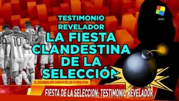 El escandaloso audio de una supuesta fiesta sexual de los jugadores de la Selección Argentina. Foto: Captura