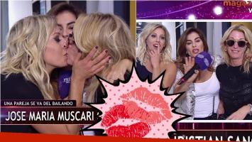 El beso de Yanina Latorre y Noelia Marzol en La previa del show
