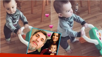El tierno video de Lourdes Sánchez mostrando los primeros pasos de su hijo, Valentín. Foto: Instagram