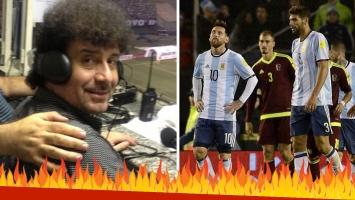 """La furia de un relator con los jugadores de la Selección tras el empate frente a Venezuela de local: """"Aganchen la cabeza y pidan perdón"""""""