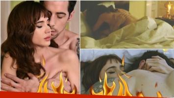 La escena súper hot de Celeste Cid y Esteban Lamothe en Las Estrellas (Fotos: Prensa eltrece y Captura)