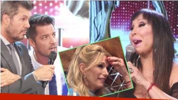 El picante comentario de Francisco Delgado y la advertencia de Moria Casán al ver la cara de Yanina Latorre (Fotos: Captura)