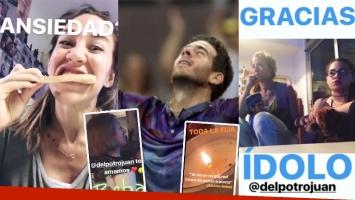 Los videos de Jimena Barón y su abuela, alentando con euforia a Juan Martín Del Potro