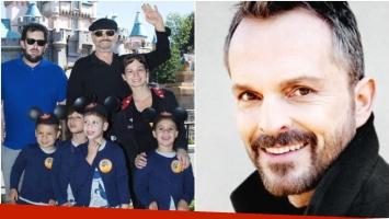 Miguel Bosé mostró el rostro de sus hijos por primera vez en medio de una extorsión (Fotos: Facebook y Web)