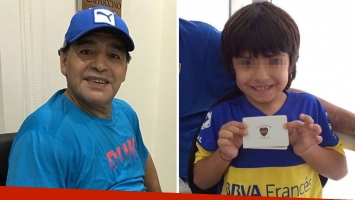 Diego Maradona reveló de qué cuadro es hincha Benjamín: