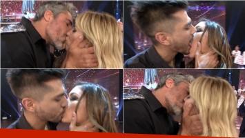 Rocío Guirao Díaz y Nicolás Paladini compitieron con Tyago Griffo y Rocío Robles en una competencia de besos en ShowMatch