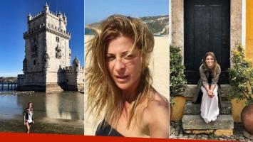 El álbum de las vacaciones de Eugenia Tobal en España y Portugal