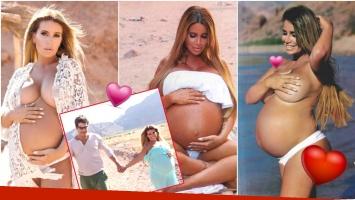 La producción ultra sexy de Florencia Peña, embarazada de 7 meses (Fotos: revista Gente)