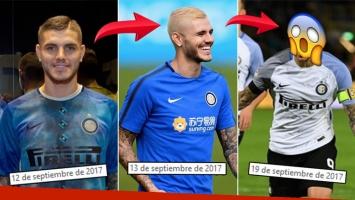 ¡Tres looks en una semana! Mauro Icardi, de castaño a platinado… ¡y mirá qué se hizo ahora!