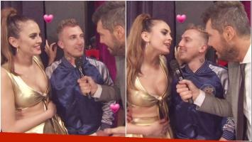 El Polaco y Silvina Luna, súper enamorados en ShowMatch tras su reconciliación (Fotos: Captura)