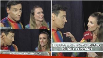 El cruce de Melina Lezcano con su bailarín que terminó en una crisis de llanto (Fotos: Captura)