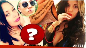 Valeria Aquino tapó el tatuaje del El Polaco y se hizo un enorme diseño arriba arriba (Fotos: Prensa Chester y Web)