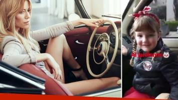 El video de Nicole Neumann junto a su hija en un auto sin el cinturó de seguridad