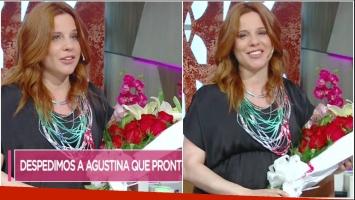 Agustina Kämpfer se despidió de Cortá por Lozano y habló de cómo vive estos días previo a parir (Fotos: Captura)