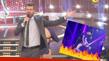 El blooper de Barby Silenzi en ShowMatch (Fotos: Captura)