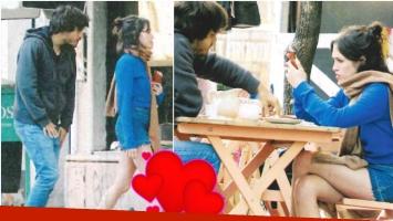 Las fotos de Candela Vetrano y su novio en un romántico almuerzo en Palermo (Fotos: revista Paparazzi)