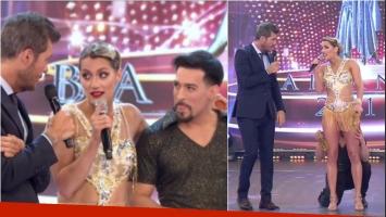 La cábala hot de Mica Viciconte en su debut en el Bailando con Jorge Moliniers. Foto: Captura