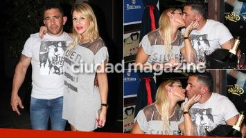 Mónica Farro con Juan Suris tras recuperar la libertad (Fotos: Movilpress)