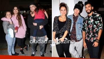 El Polaco, sus hijas y Silvina Luna coincidieron con Barby Silenzi en el estreno de Jey Mammon. (Foto: Instagram)