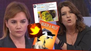 La guerra de Nancy Pazos y Andrea Taboada en Twitter: chicanas muy filosas, polémica ¡y bloqueo!