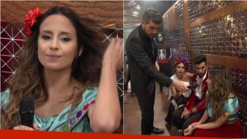 El mal momento de Lourdes Sánchez, tras no poder abrir el ritmo libre del Bailando:
