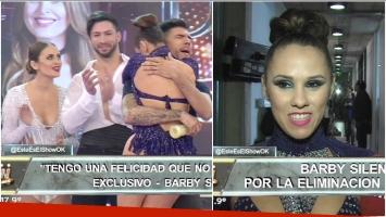 La reacción de Barby Silenzi luego de que Silvina Luna quedara eliminada de ShowMatch (Fotos: Captura)
