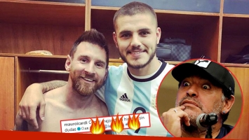 Mauro Icardi y Lionel Messi