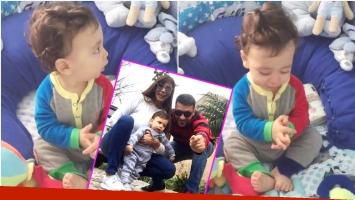 El tierno video del hijo de Ximena Capristo y Gustavo Conti aplaudiendo (Fotos: Captura e Instagram)