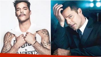 Ricky Martin despertó suspiros en Instagram al publicar una foto con bigotes (Fotos: Instagram)