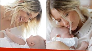 La tierna producción de fotos de Brenda Gandini con Alfonsina, su beba de 2 meses y medio (Fotos: instagram)
