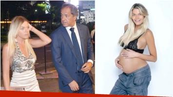 Ángel de Brito reveló el sexo y el nombre del hijo que espera Gisela Berger con Daniel Scioli (Fotos: Web y revista Gente)