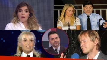 Las reacciones de Dalma Maradona y Claudia Villafañe cuando De Brito les preguntó: ¿Jorge Taiana y Rocío Oliva...