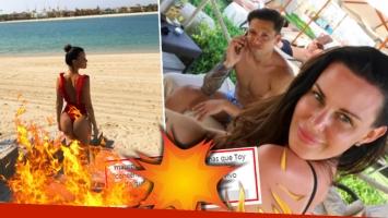 El piropo súper zarpado de Mauro Zárate a Natalie Weber tras ver su foto sexy en la playa