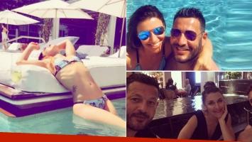 La luna de miel de Mariana Brey y Pablo Melillo en Miami: postales románticas y lomazo en bikini