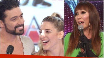 La devolución hot a Hernán Piquín y Macarena Rinaldi tras su performance en ShowMatch (Fotos: Captura)