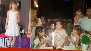 ¡En familia! Las fotos de Nicole Neumann y Fabián Cubero, juntos en el cumpleaños de su hija mayor