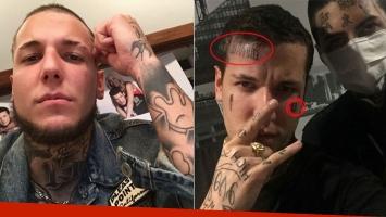 ¡Se tatuó la cara! Los nuevos tatuajes de Alexander Caniggia: mirá las fotos