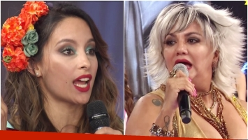 Nuevo round entre Gladys La Bomba Tucumana y Lourdes Sánchez en ShowMatch (Fotos: Captura)