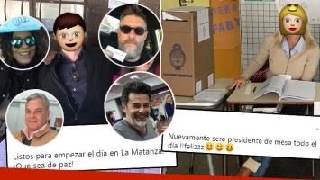 Los famosos celebraron una nueva jornada democrática: importantísima figura de fiscal en La Matanza y una diosa de presidenta de mesa