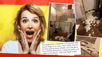 La furia de Sofía Pachano al llegar a su casa y encontrarla destruida: Tener todo roto por la obra que hacen al lado...