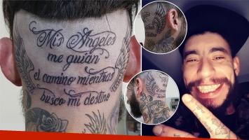 Ulises Bueno se tatuó la nuca. (Foto: Instagram)