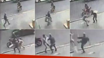 El video del forcejeo de Jorge Rial con el ladrón que le robó a la salida de América