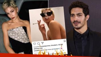Úrsula Corberó le dedicó una sugerente foto en topless al Chino Darín y él la piropeó: Sos mi musa con derecho a...