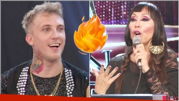 El piropo hot de Moria Casán a El Polaco en ShowMatch (Fotos: Captura)