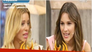 El video completo del cara a cara de Pampita con Nicole Neumann en vivo (Fotos: Captura)