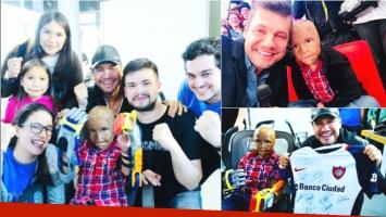 Marcelo Tinelli le cunplió el segundo sueño a Maxi: tener dedos (Fotos: Instagram y Twitter)