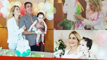 El festejo del primer cumpleaños de la hija de Emilia Attias y el Turco Naim: súper ambientación hawaina ¡y blooper...