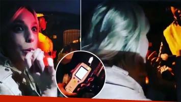 Tamara Pettinato compartió en Instagram su control de alcoholemia