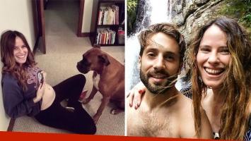 Alessandra Martin y Alejandro Juli, papás babosos y primerizos. (Foto: Instagram)