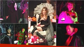 El look de Verónica Lozano y los panelistas de Cortá por Lozano para Halloween (Fotos: Captura)